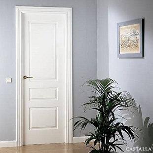 Puerta P103FE Lacada Blanca-Fortuny. Castalla