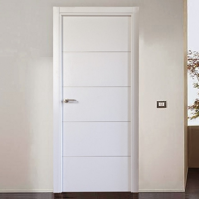 puerta lacada industrial lisa blanca