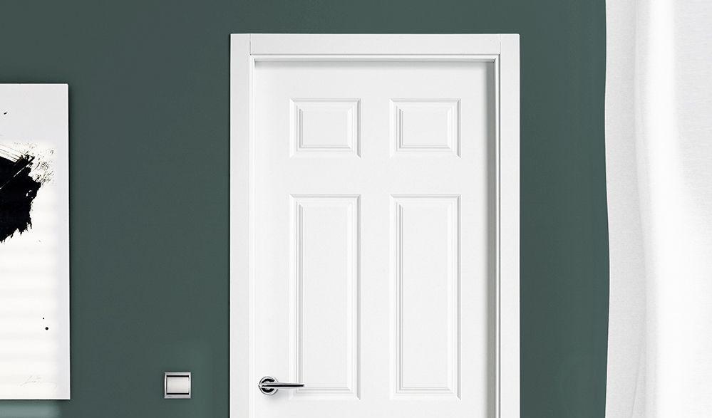 Puerta lacada en Blanco Zaragoza